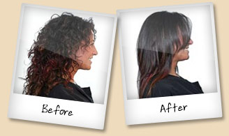 Brazilian Blow Dry - a before and after shot